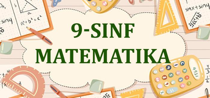 9-sinf Matematika
